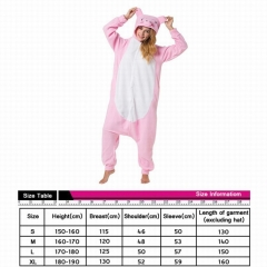 Pink Pig Cute Animal Unisex Cosplay Cartoon For Adult Pajamas Anime Pyjamas