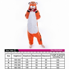 Bengal Tiger Cute Animal Unisex Cosplay Cartoon For Adult Pajamas Anime Pyjamas