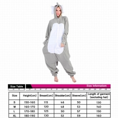 Elephant Cute Cosplay Cartoon For Adult Pajamas Anime Pyjamas
