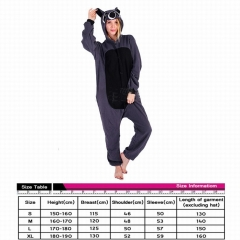 Procyon Lotor Animal Cosplay Cartoon For Adult Pajamas Anime Pyjamas