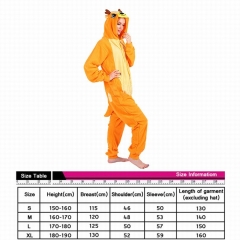 Cervus Nippon Cute Animal Unisex Cosplay Cartoon For Adult Pajamas Anime Pyjamas