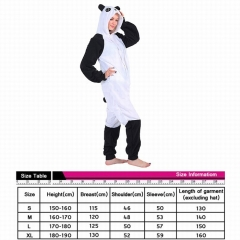 Panda Cute Animal Unisex Cosplay Cartoon For Adult Pajamas Anime Pyjamas