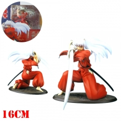 Inuyasha Cartoon Model Toy Statue Anime PVC Action Figures 19cm
