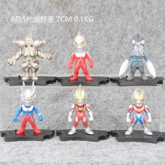 Ultraman 5 Generation Cosplay Cartoon Collection Toys Statue Anime PVC Figure (6pcs/set)