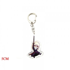 Fate Stay Night Cartoon Pendant Keychain Kawaii Acrylic Keyring