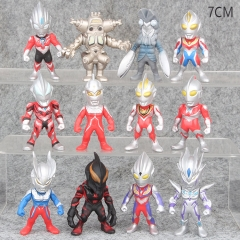 Ultraman Cosplay Cartoon Collection Toys Statue Anime PVC Figure (12pcs/set)
