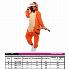 Tiger Animal Cute Cosplay Cartoon For Adult Pajamas Anime Pyjamas