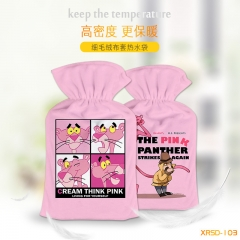 Pink Panther Cosplay For Warm Hands Anime Hot-water Bag