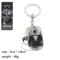 The Punisher Cosplay Cute Hot Movie Decoration Pendant Anime Keychain