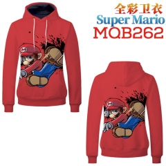 Super Mario Bro Fashion Cosplay Anime Sweater Hooded Pullover Hoodie