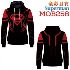 Super Hero Superman Fashion Cosplay Anime Sweater Hooded Pullover Hoodie