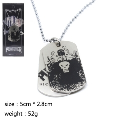 The Punisher Cosplay Cute Hot Movie Decoration Pendant Anime Necklace