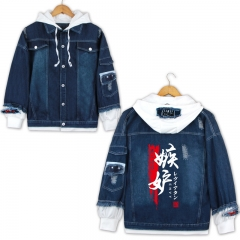 2 Colors The Seven Deadly Sins Cosplay Cartoon Unisex Casual Anime Denim Jacket