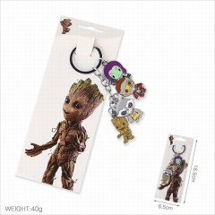 Guardians of the Galaxy Cartoon 4pcs Pendants Key Ring Fashion Decoration Anime Keychain
