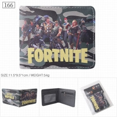 Fortnite Game Cartoon Cosplay PU Purse Anime Short Wallet