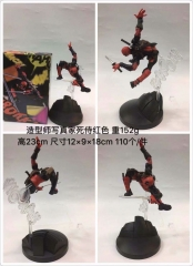 Deadpool Red Movie Model Toys Statue Anime PVC Figure 23cm