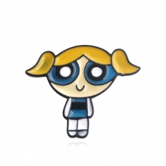 Cartoon The Powerpuff Girls Alloy Brooch Cute Pins