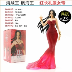 One Piece LADY EDGE: WEDDING BOA.HANCOCK  (red color ver) Anime Figure 23cm