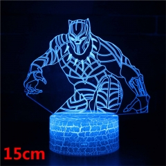 Black Panther Model 3D LED Nightlight Seven Colors Change Touch Anime Acrylic Standing Plates