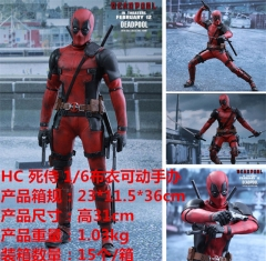 Deadpool Cosplay Cartoon Model Toy Statue Anime Action Figure 31cm