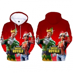 For Adult Children Fortnite Cosplay Game 3D Print Casual Christmas Style Hooded Anime Hoodie