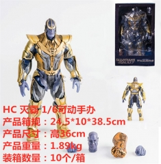Guardians of the Galaxy Thanos Cosplay Cartoon Model Toy Statue Anime Action Figure 36cm