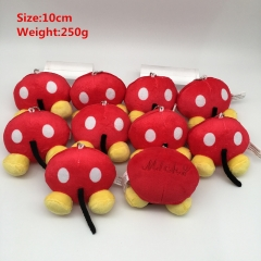 Disney Mickey Cosplay Cartoon Lovely For Gift Doll Toy Anime Plush Pendant 10Pcs Per Set