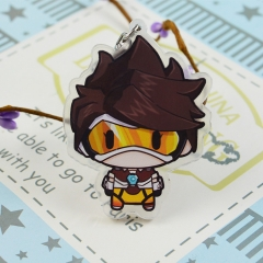 Overwatch Game Cosplay Cartoon Cute Keyring Acrylic Anime Keychain