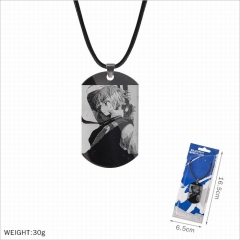 The Seven Deadly Sins Stainless Steel Military Plate Cosplay Necklace
