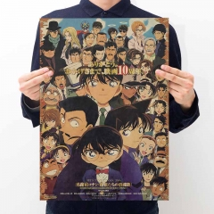 Detective Conan Cartoon Placard Home Decoration Retro Kraft Paper Anime Poster
