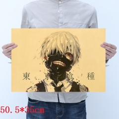 Tokyo Ghoul Cartoon Placard Home Decoration Retro Kraft Paper Anime Poster