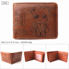 Guardians of the Galaxy Cartoon Coin Purse PU Leather Fashion Anime Short Wallet