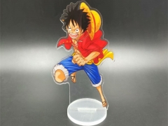 One Piece Cosplay Cartoon Character Acrylic Figure Cute Anime Plate Standing