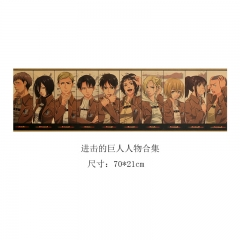 Attack on Titan / Shingeki No Kuojin Cartoon Placard Home Decoration Retro Kraft Paper Anime Poster