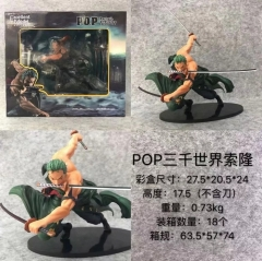 One Piece Zoro Cartoon Toy Anime Figure 17.5cm