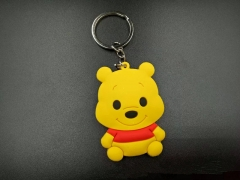 Winnie the Pooh Cosplay Cartoon Character Pendant PVC Anime Keychain
