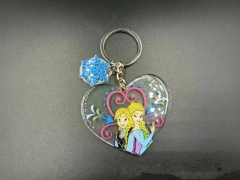 Frozen Disney Cosplay Movie Cartoon Pendant Acrylic Anime Keychain