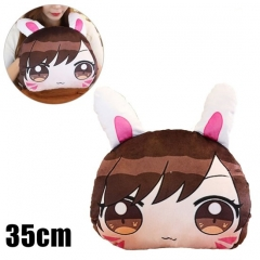 Overwatch Game Cosplay D.va Hands Warmer Puppy Anime Pillow