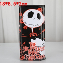 The Nightmare Before Christmas PU Leather Wallet Men Long Coin Purse