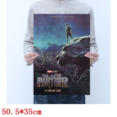 Black Panther Movie Placard Home Decoration Retro Kraft Paper Anime Poster