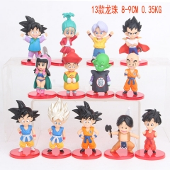13pcs/set Dragon Ball Z Cosplay Cartoon Collection Toys Statue Anime PVC Figure