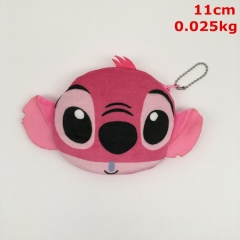Lilo and Stitch Cosplay Cartoon For Kids Coin Wallet Anime Plush Zipper Purse Pendant