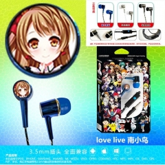 3 Colors Cheapest LoveLive Cosplay Cartoon 3.5mm Plug Anime Earphone