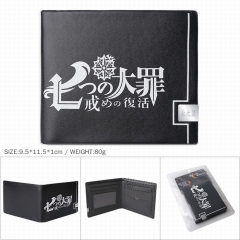The Seven Deadly Sins Cosplay PU Leather Wallet Bifold Short Coin Purse