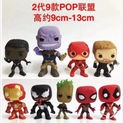 Funko POP The Avengers Super Hero 2 Generation Model Toys Statue Anime PVC Figure (9pcs/set)