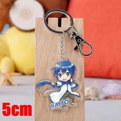 Vocaloid KAITO Cartoon Pendant Key Ring Transparent Anime Acrylic Keychain