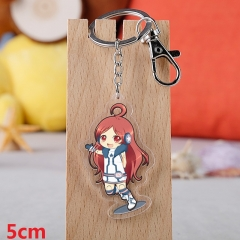 Vocaloid Cartoon Pendant Key Ring Transparent Anime Acrylic Keychain
