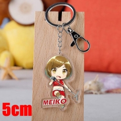 Vocaloid MEIKO Cartoon Pendant Key Ring Transparent Anime Acrylic Keychain