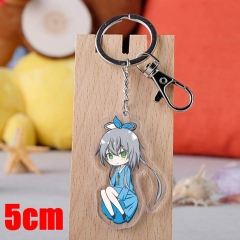 Vocaloid Luo Tianyi Cartoon Pendant Key Ring Transparent Anime Acrylic Keychain