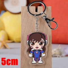 Overwatch D.va Game Pendant Key Ring Transparent Anime Acrylic Keychain